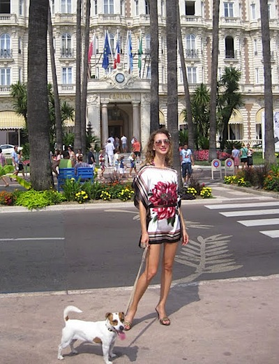valentina of vfashionworld run at the beach cannes french riviera carlton hotel