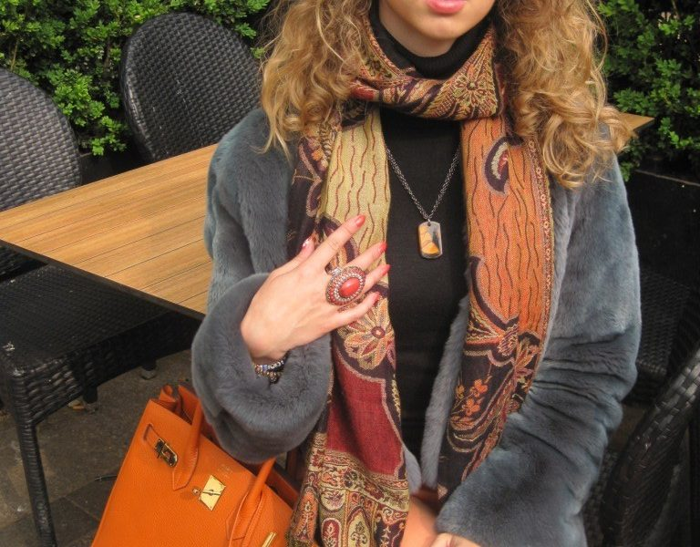 Back to Paris – orange casual outfit