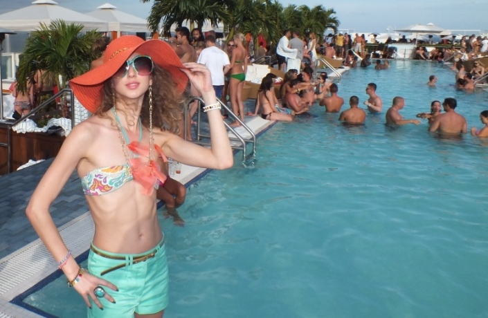 The Perry pool party in South Beach
