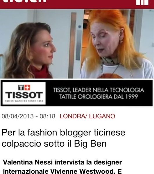 TIO – Per la blogger fashion blogger ticinese colpaccio sotto il Big Ben – April 2013
