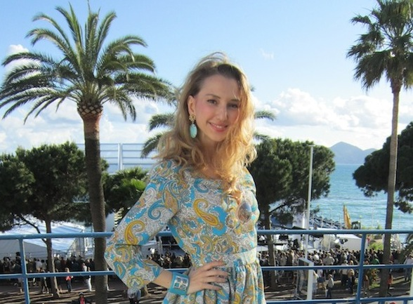 Sequined dress at Babylon in Cannes Film Festival