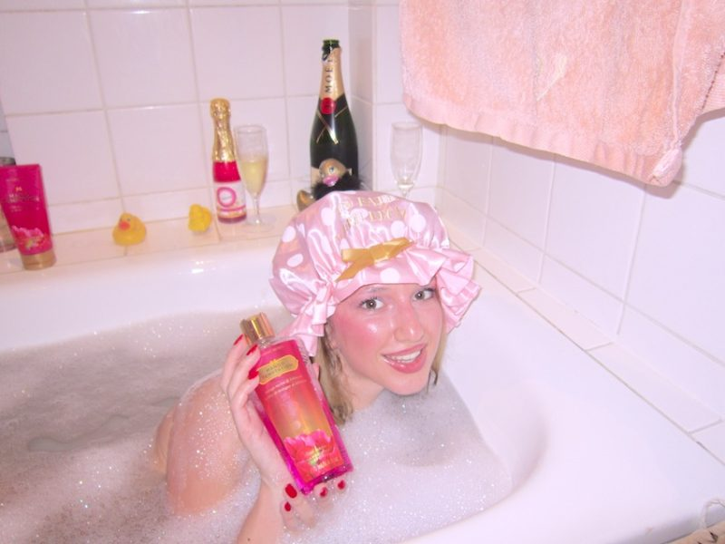 In bath with blonde