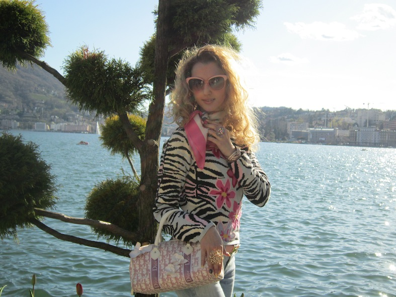 Flowers Spring Casual Look by Lugano Lake
