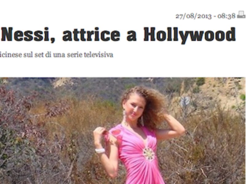 TIO – Valentina Nessi actress in Hollywood – August 2013