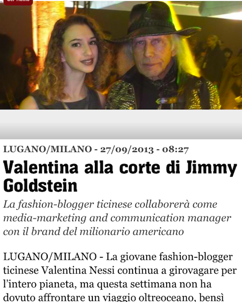 TIO – Valentina alla corte di Jimmy Goldstein – September 2013
