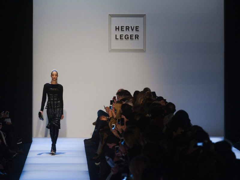 Front Row video at Herve Leger Fashion Show Fall Winter 2014