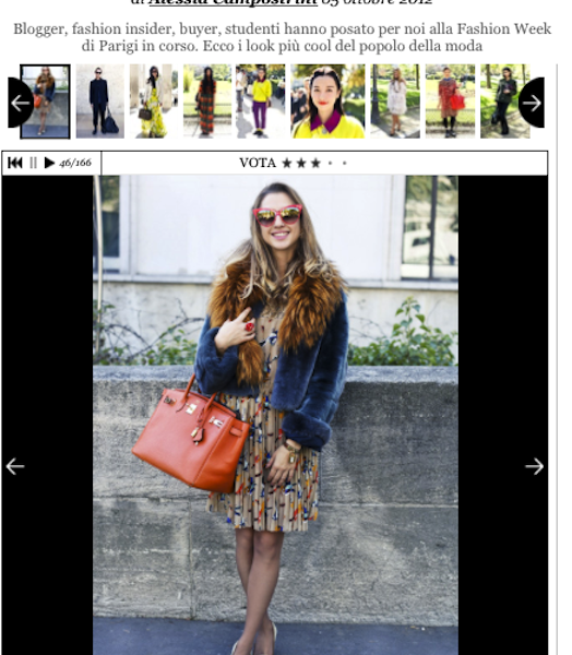 Style.it – Moda Street Style – Facce da Front Row alla Fashion Week di Parigi Primavera Estate 2013 – October 2012