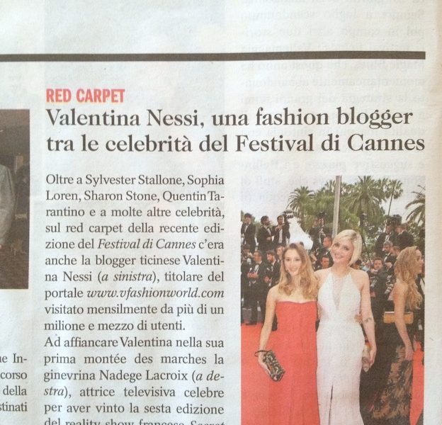 Valentina Nessi, Fashion Blogger tra le celebrità del Festival di Cannes – Extra – May 2014