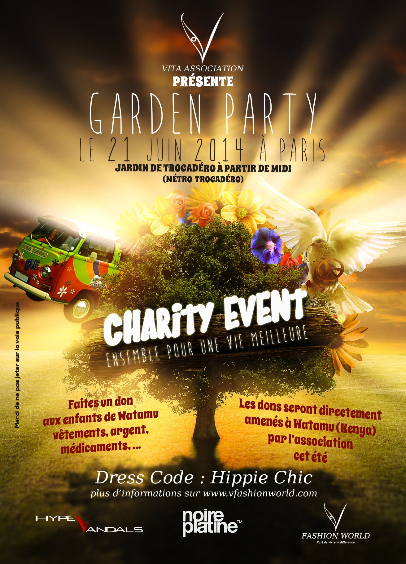 garden party charity event paris