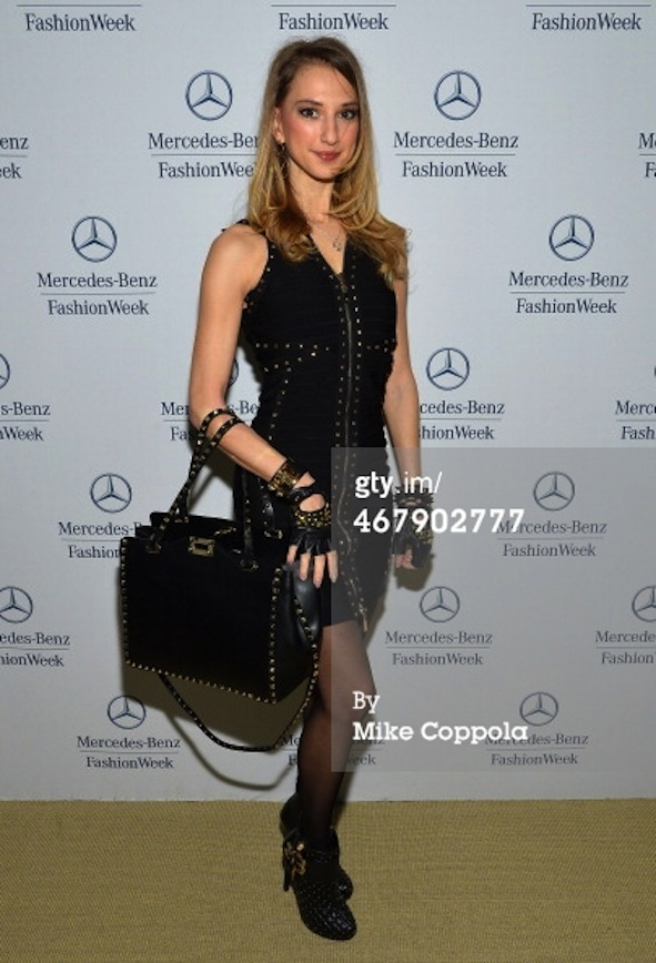 fashion blogger at mercedes benz star loung during new york fashion week photo credit getty images