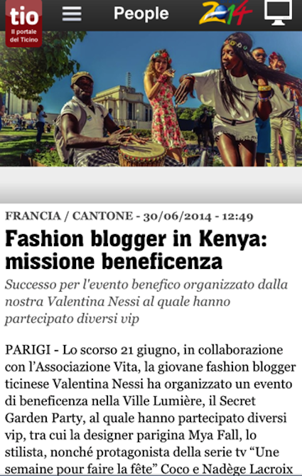 fashion blogger valentina nessi charity party per missione di beneficenza in kenya