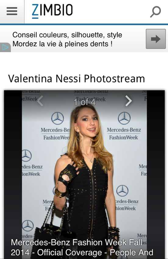 Fashion blogger and Style Icon Valentina Nessi attends the Mercedes-Benz Star Lounge during Mercedes-Benz Fashion Week Fall 2014 at Lincoln Center on February 8, 2014 in New York City.
