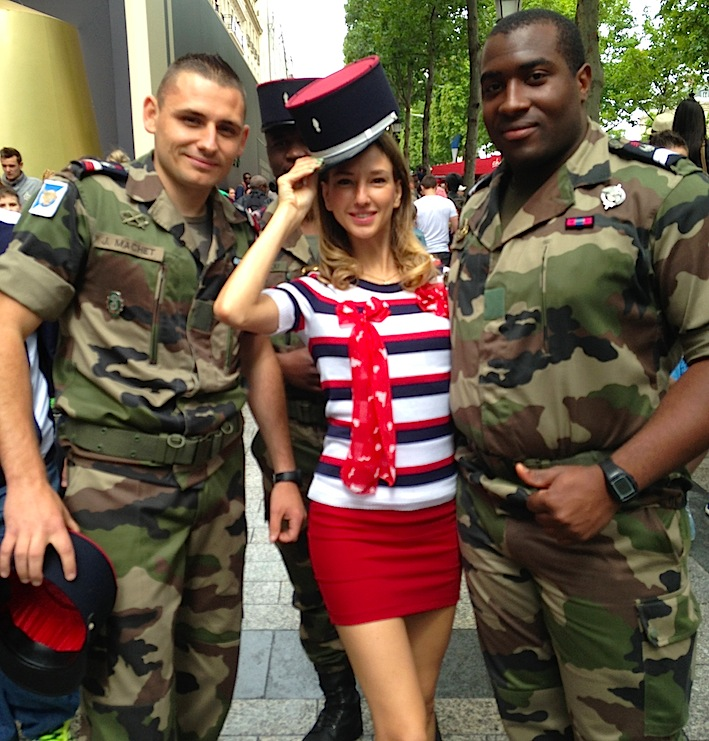 pin up with military french national day
