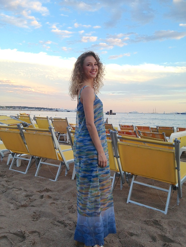 evening dress at l'ondina beach