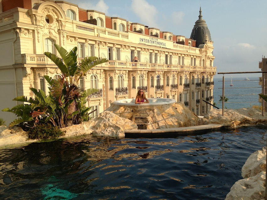jetset babe luxury rooftop pool cannes