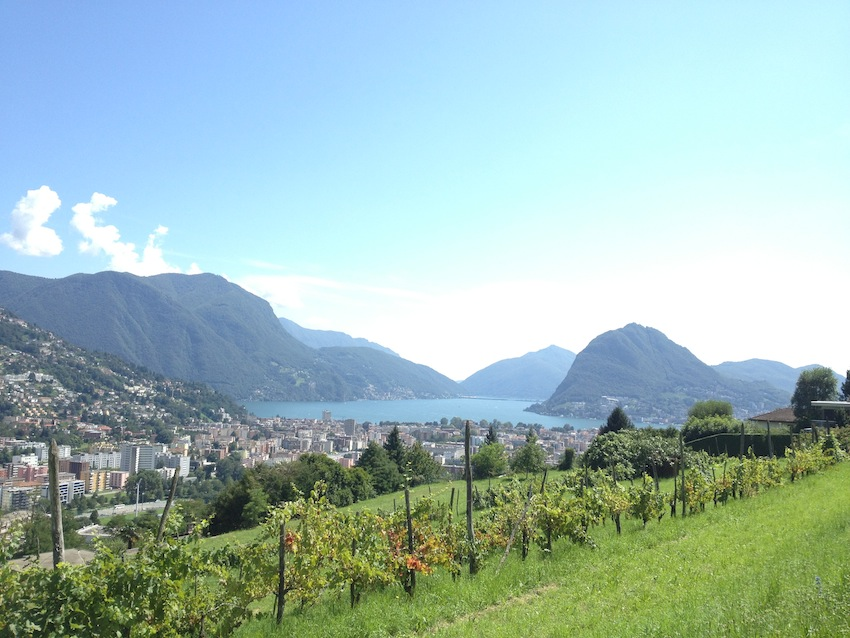 lugano vista collina