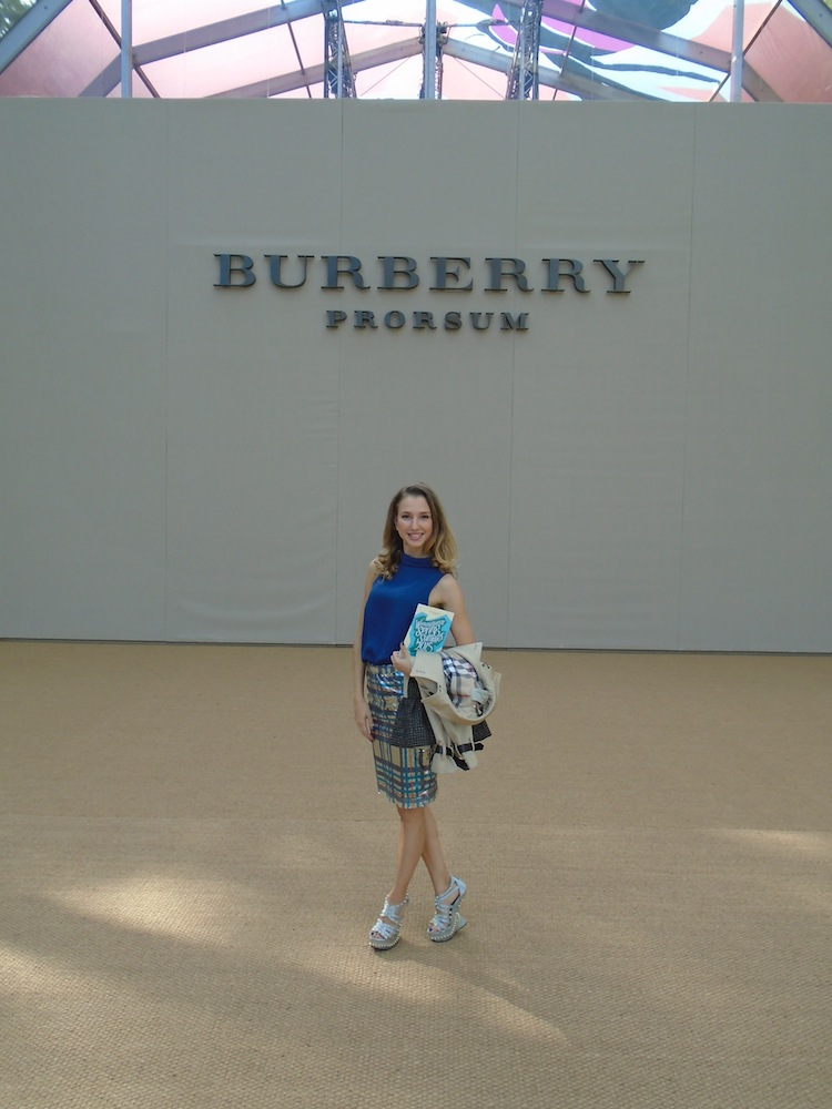 London Fashion Week SS15 10 fashion blogger Valentina Nessi for Burberry