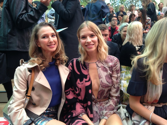 London Fashion Week SS15 22 Burbery frint row Elena Perminova