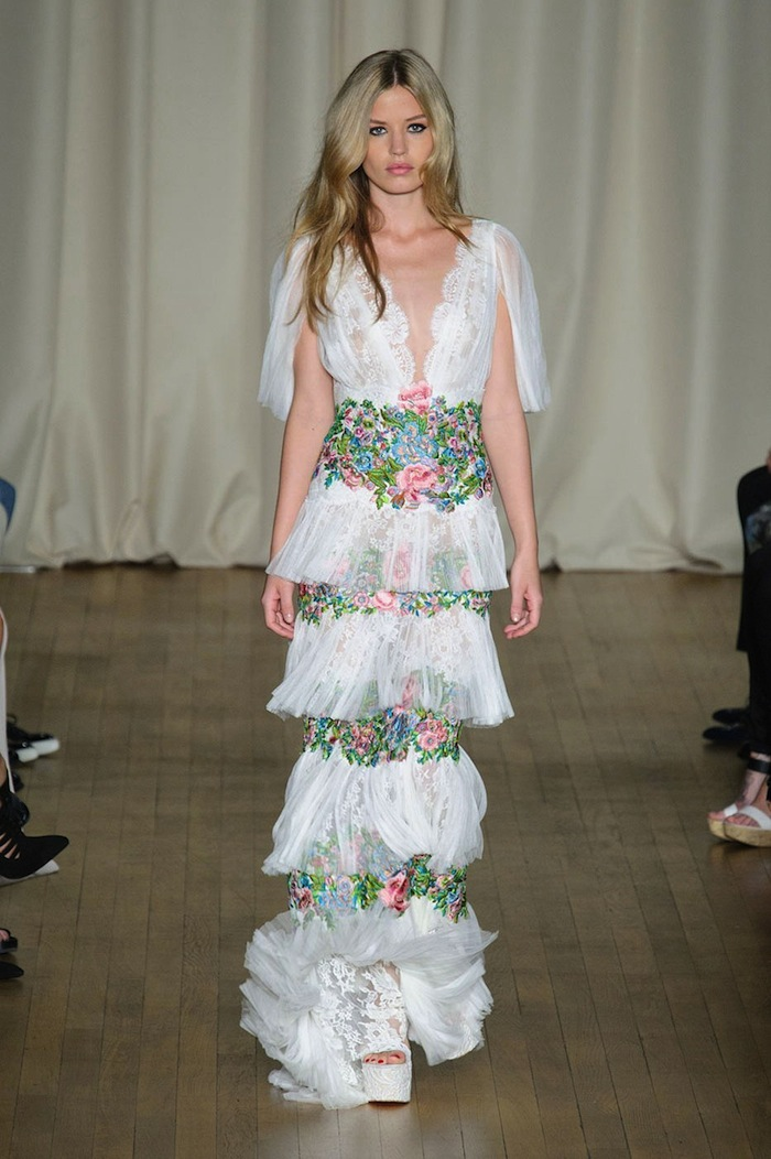 Marchesa FashionSpring Summer 2015 runway look x blog