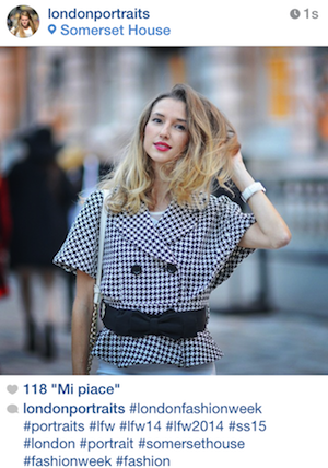 VALENTINA NESSI SUR LONDON PORTRAITS – Septembre 2014