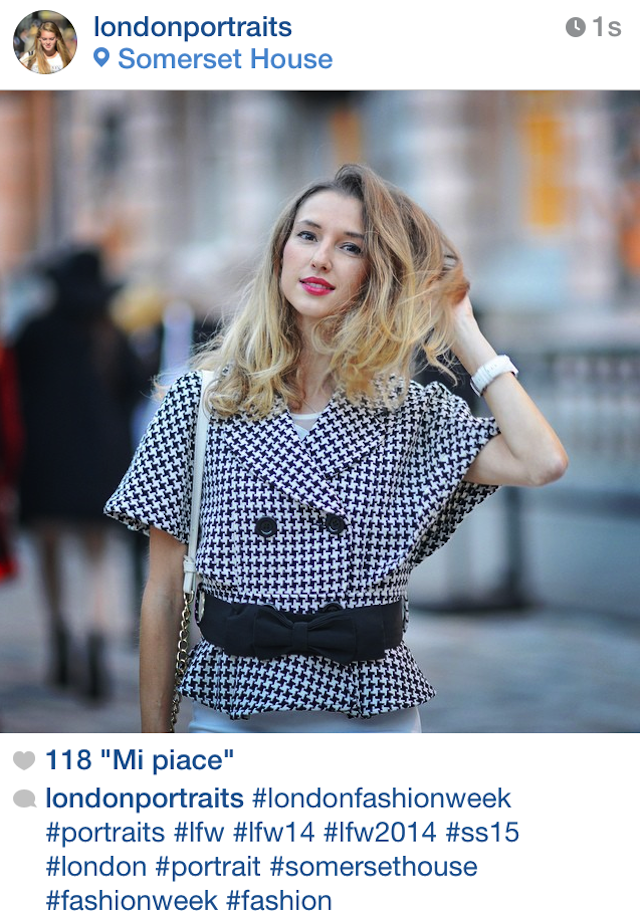 fashion blogger Valentina Nessi on London portraits