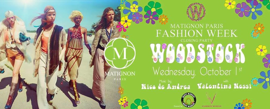 fashion week closing party au Matignon Paris hosted by Valentina Nessi of V Fashion World event woodstock style dress code flower power x blog jpg