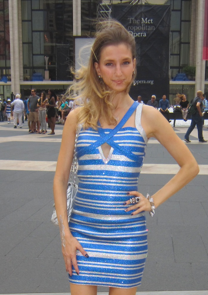 new york fashion week street style herve leger look 02