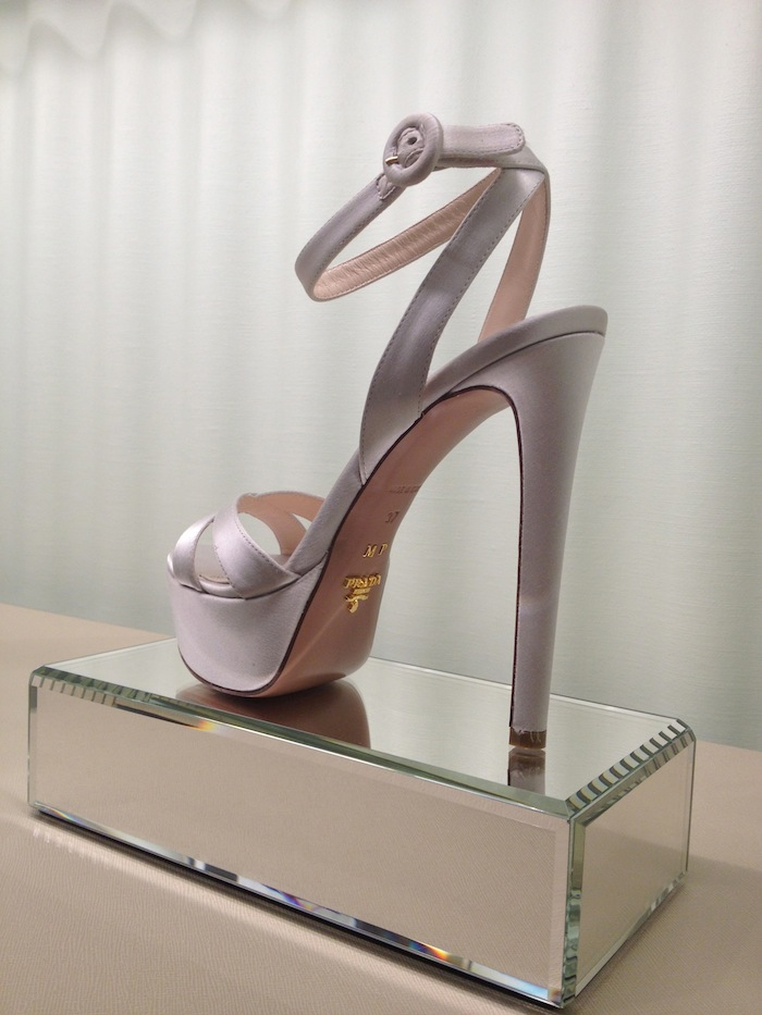prada silver shoes