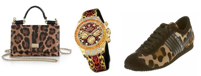 animalier trends - bag - rolex watch - dolce gabbana shoes