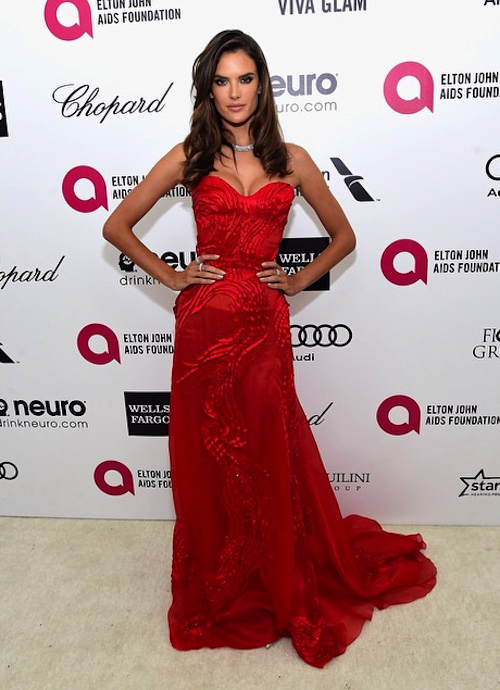 ALESSANDRA AMBROSIO Best Dressed at Oscar 2015