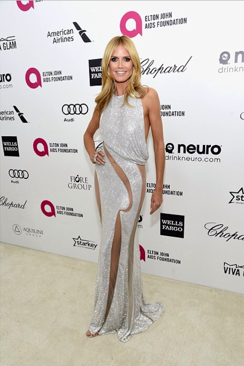 HEIDI KLUM Best Dressed at Oscar 2015