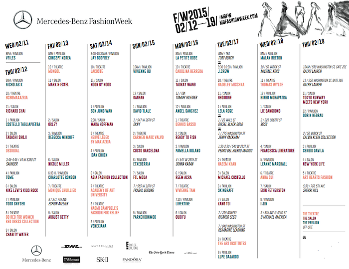 New York Fashion Week Calendar Libaifoundation Org Image Fashion