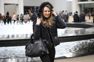 MBFW LOOK – IN NERO SOTTO LA NEVE A NEW YORK