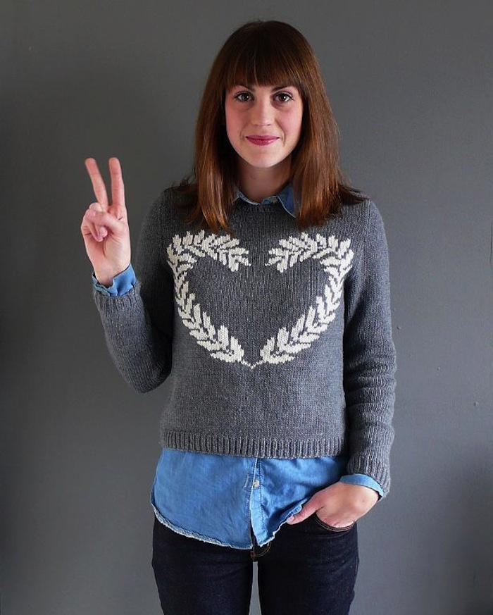 Peace and Love Sweater - fashion blogger