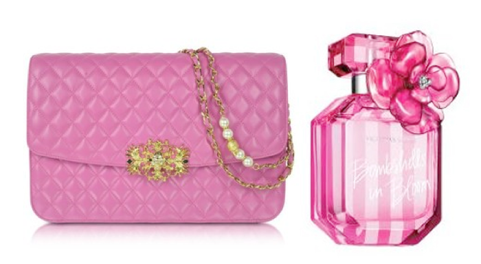 VFW Fashion Trends - San Valentine Edition - Pink bag and Victoria's Secret perfume
