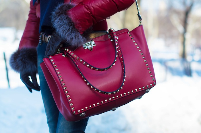 Valentino Red studded bag 14