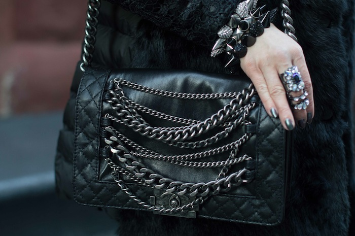 chanel boy chain bag NYFW 15