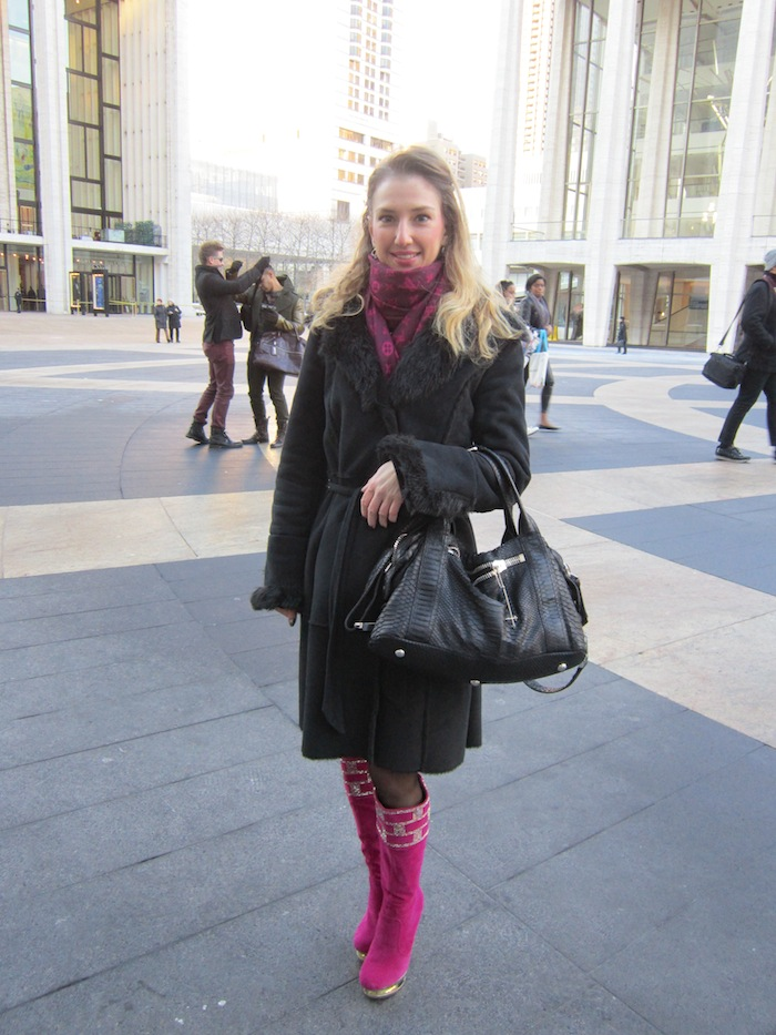 new york fashion week street style blogger pink boots 04