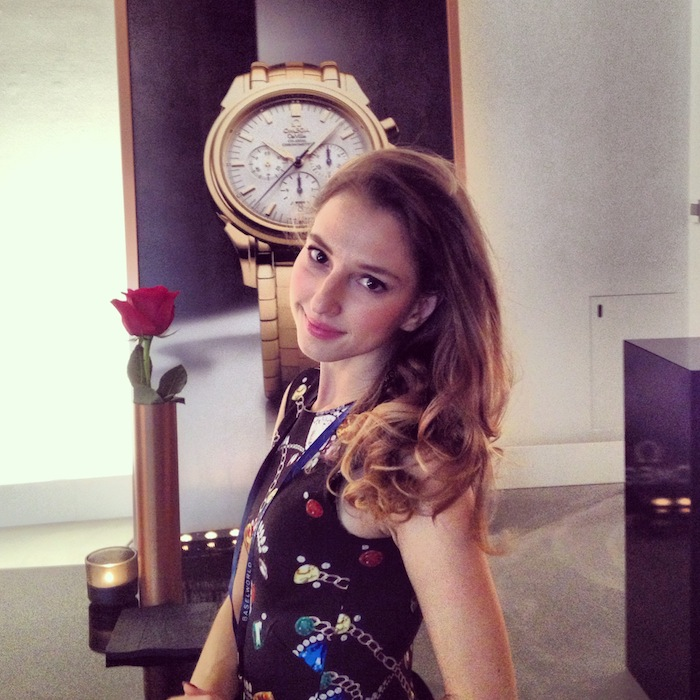 Luxury blogger Valentina at Omega event Baselworld
