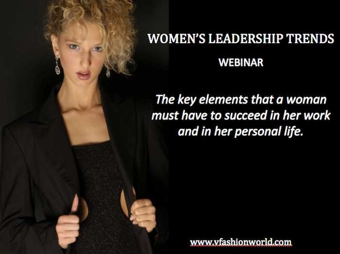 Women's Leadership trends webinar powerd by Valentina Nessi of V Fashion World