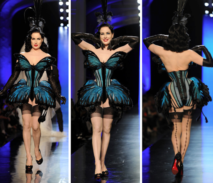 Dita von Teese for Jean Paul Gaultier butterfly dress