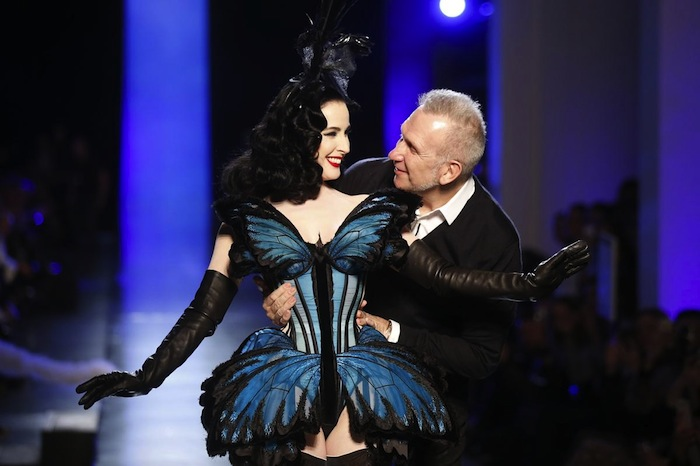 Jean Paul Gaultier and Dita Von Teese