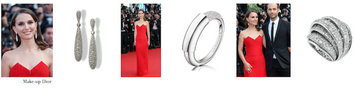 Natalie Portman wears de GRISOGONO at Cannes Film Festival