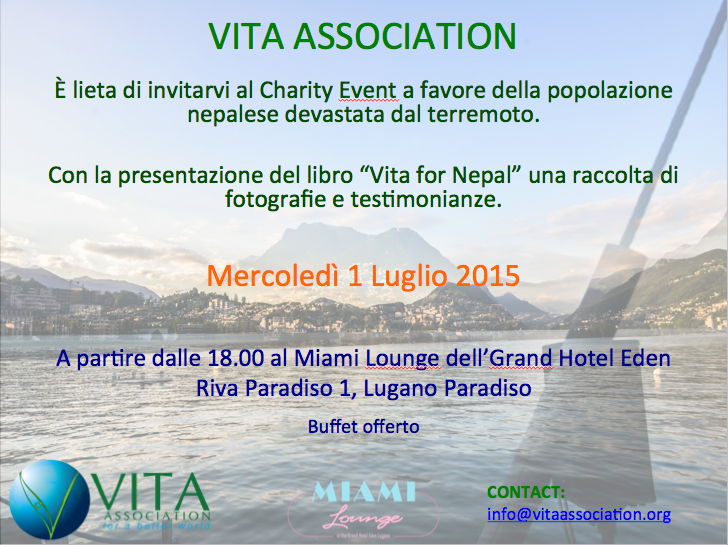 CHARITY COCKTAIL FOR NEPAL – INVITATION