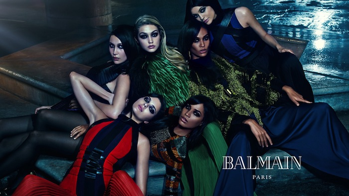 Glamgerous sisters for Balmain Fall 2014 Ad Campaign