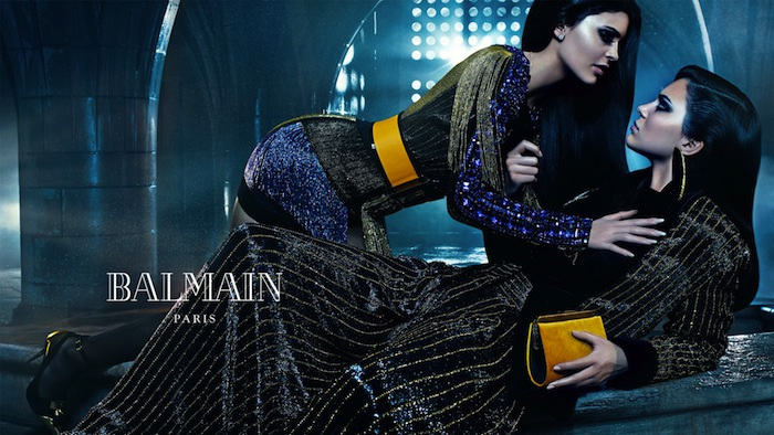 KENDALL JENNER & KYLIE JENNER FOR BALMAIN FALL 2015 AD CAMPAIGN