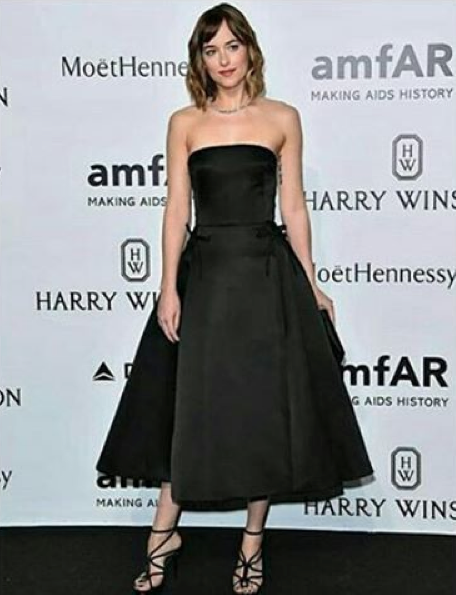 Dakota Johnson in dior best dressed at amfar milano