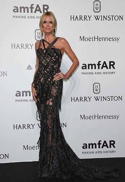 Heidi Klum Best dressed at amfAR Milano