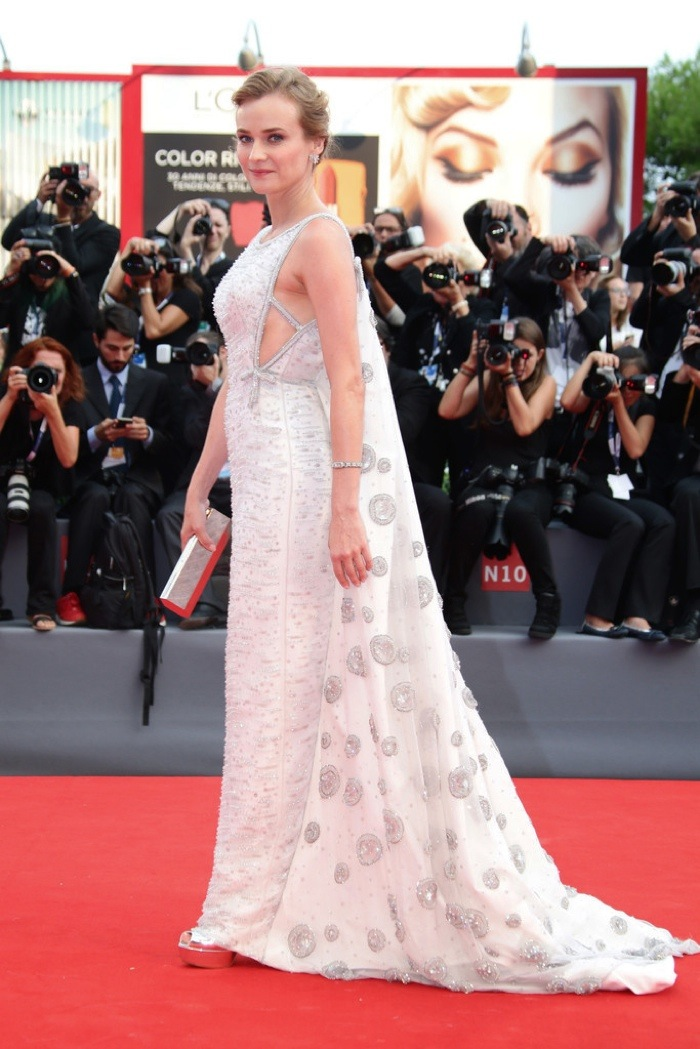 diane kruger prada dress at venice film festival 2015
