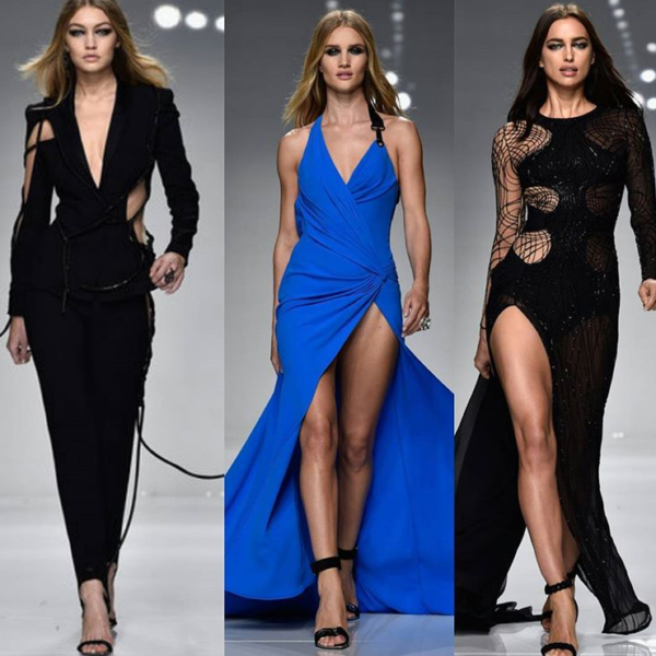 GIGI HADID HAS OPENED THE ATELIER VERSACE SHOW